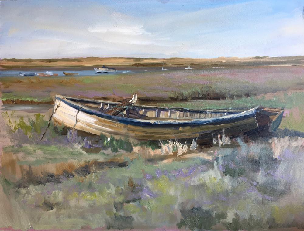 Broken Boat on the Marsh