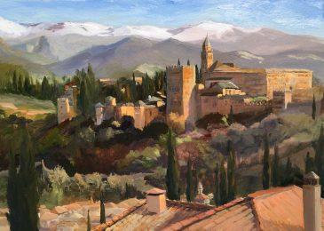 Evening Light, Alhambra Palace