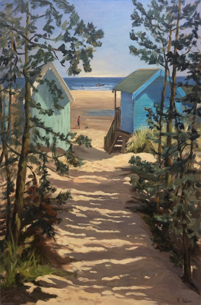 Sandy Path through the beach huts