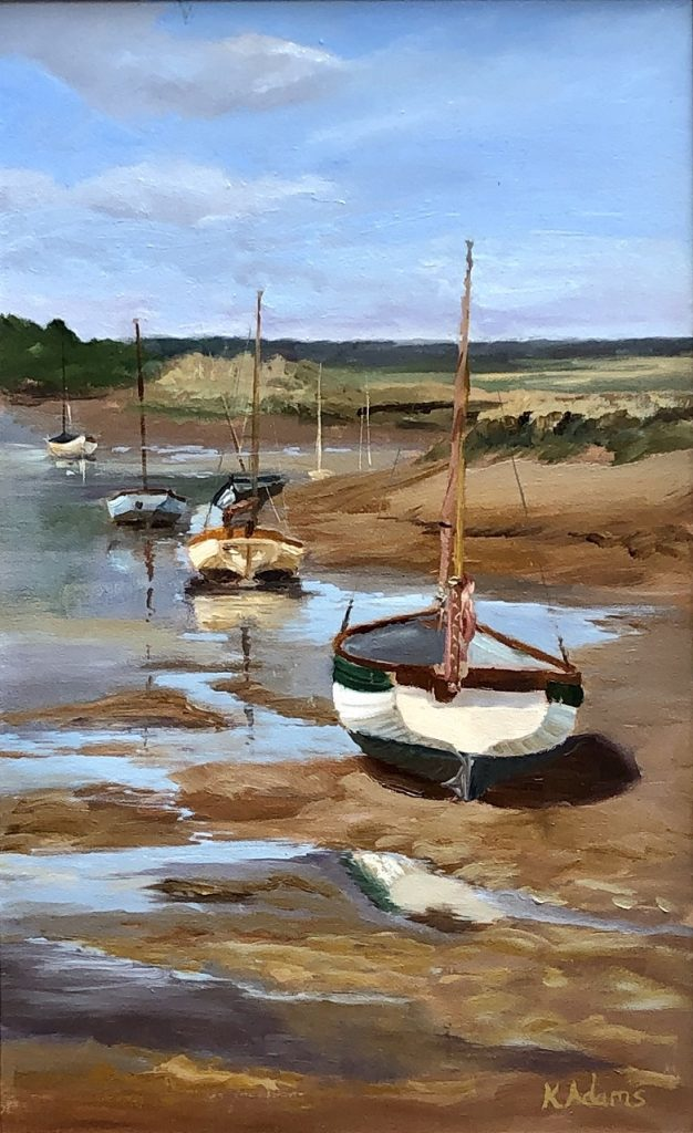 SOLD - Low tide, Overy Staithe