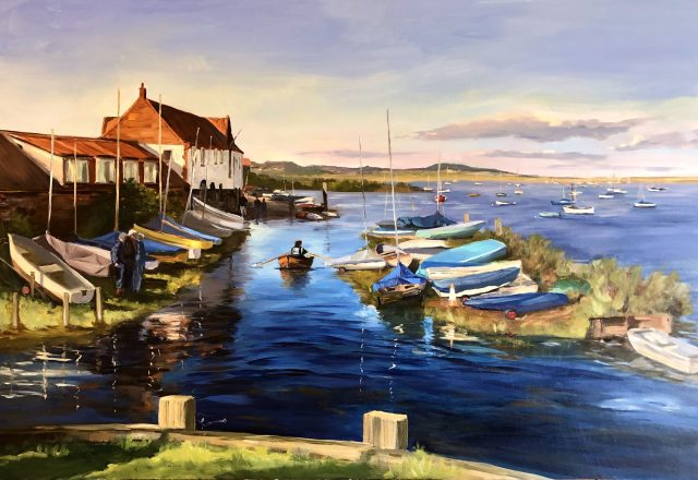 SOLD - Flood Tide, Overy Staithe